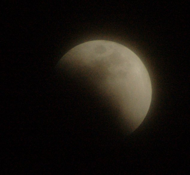 Something eating the moon!